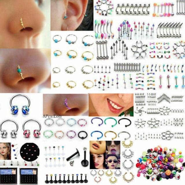 Wholesale Bulk lots Body Piercing Ear Eyebrow Jewelry Belly Tongue Bar Ring