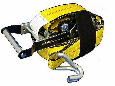 """Tie Down Straps 2"""" x 27' 10000 lbs with Expandable Handle and Loop Easy"""