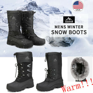 NORTIV-8-Men-039-s-Winter-Snow-Boots-Waterproof-Warm-Thermolite-Outdoor-Hiking-Boots