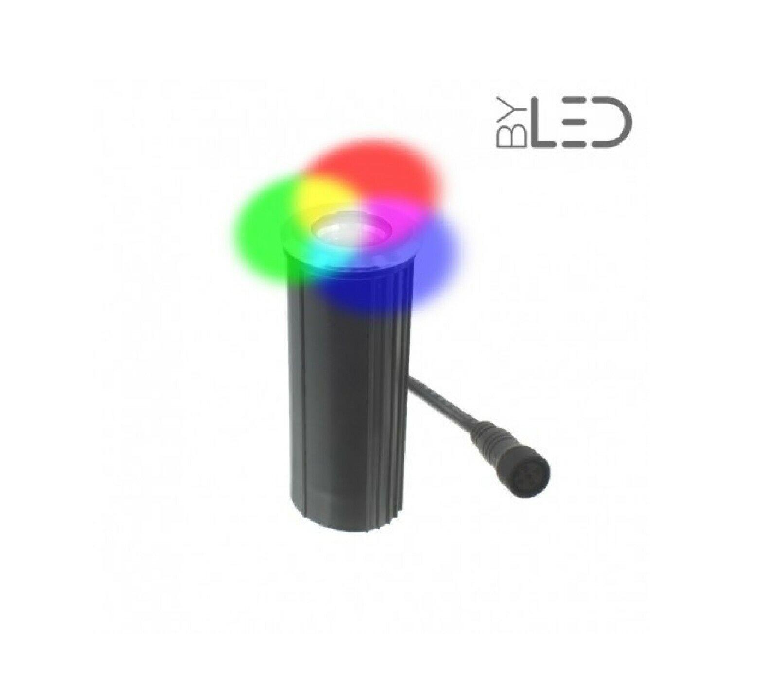 BYLED DK-04-24V-B-RGB-W - Spot LED encastré de sol 4W RGB + blancoh chaud NEUF