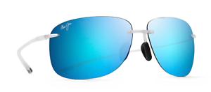 Maui Jim Sunglasses Hikina B445-05CM Crystal Matte Blue Hawaii Polarized