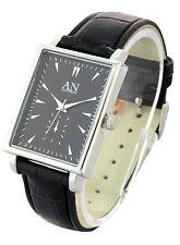 Un Londres diseñador Correa De Cuero & Plaza en forma de Unisex reloj de moda – an2216