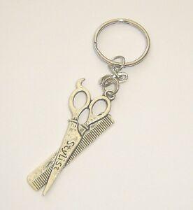 hair stylist scissor keyring comb scissors bag charm in gift bag ebay