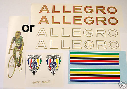 Allegro 1930s decal set Swiss