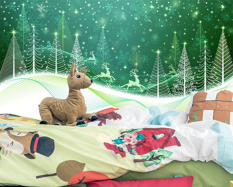 3D Grün Woods Light 551 Wallpaper Murals Wall Print Wallpaper Mural AJ WALL AU