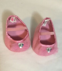 NEW Build-A-Bear Pink SPARKLE BARBIE HIGH HEELS Teddy Shoes