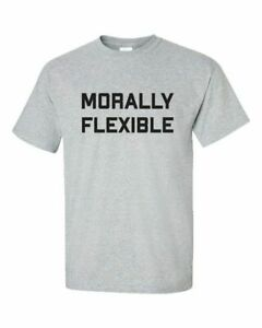 Funny-Morally-Flexible-Adult-Unisex-Short-Sleeve-T-Shirt