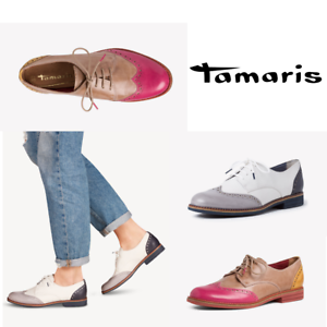 Tamaris Brogues Ladies Leather Laced