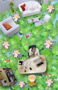 3D Plantas Flores Papel Pintado Mural Parojo Impresión de suelo 52 5D AJ Wallpaper Reino Unido Limón