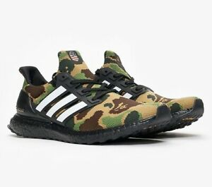 los angeles fb675 52dca Details about BAPE X Adidas Ultra Boost Green Camo Men's US Size 10.5 DS -  100% Authentic