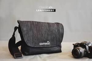 Image Is Loading Black Denim Modern Messenger Bag Jeans Shoulder