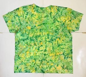 Men/'s Emerald Crinkle Tie Dye Crew or V-Neck *New* Handmade Sm 4XL