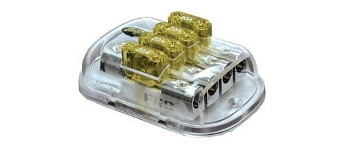 2 4 4Ga In Stinger SPD5625 Maxi 4-Position Fused Distribution Block 8Ga Out
