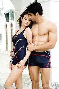 Decent Stylish Ladies Swimwearswimming Costume Black With Red