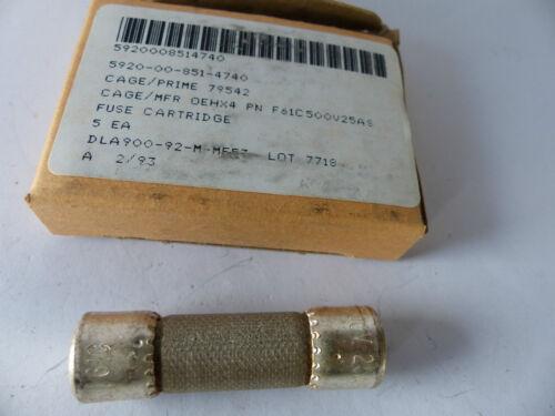 Fuse 5 x BUSS Sicherung NOS 500V 25A 14 x 51mm