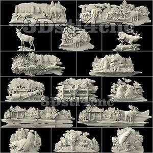 15-3D-STL-Models-Animal-Chapters-for-CNC-Router-Carving-Machine-Artcam-aspire