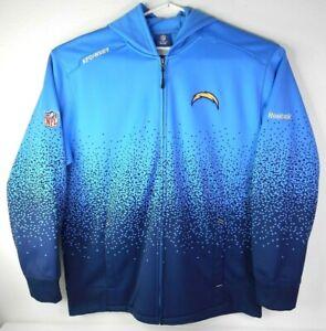 Reebok-ONFIELD-NFL-Chargers-Hooded-Jacket-XL-Fleece-Lined-Soft-Shell-Powder-Fade