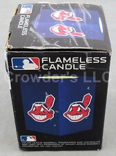 New in Box MLB Cleveland Indian's Flameless Candle Baseball Realistitc flicker