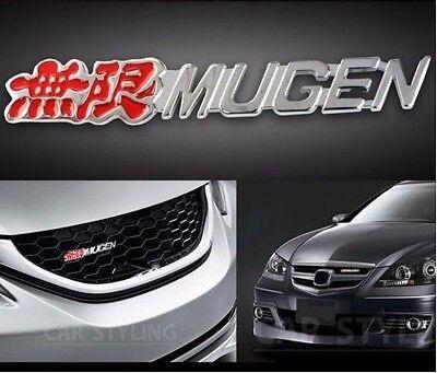 3D Metal Front Grille Grill Badge Emblem Decals Hood Auto Car Honda Mugen Power