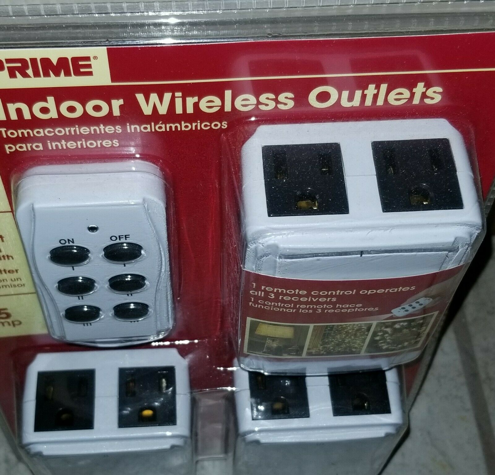 PRIME Indoor Wireless Outlets HLRC23PK Remote Christmas Light Switch Outlets