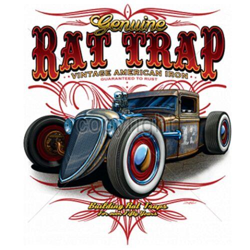 Sweatshirt in weißV8 Oldschool Hot Rod-/&`50 Stylemotiv Modell Rat Trap