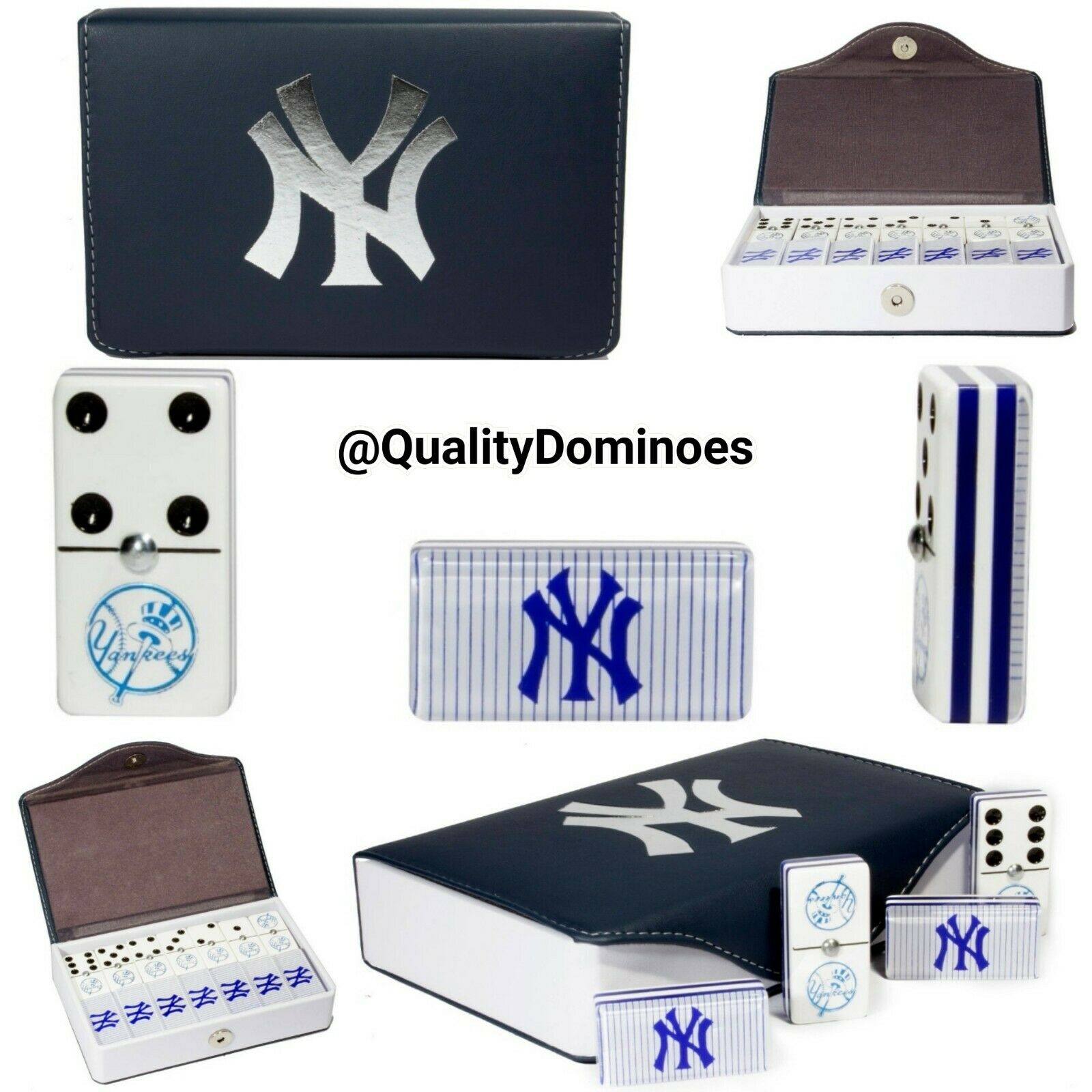 New York Yankees Domino Game Set Jumbo Size Great Hot Gift Dominoes Man Cave