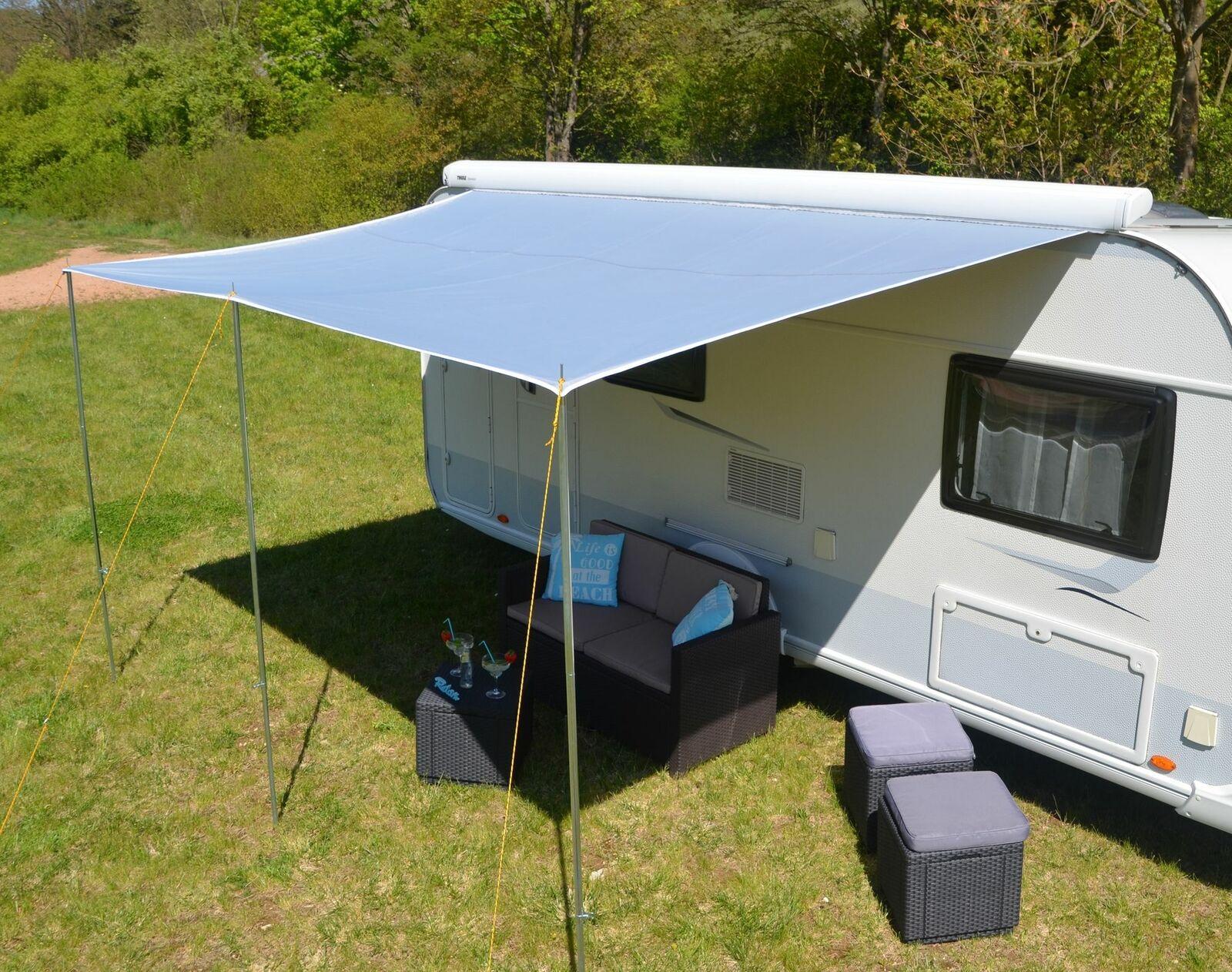 Wohnwagen Sonnenvordach Sonnenvordach Sonnenvordach Sonnendach Sonnensegel - BASIC - Breite 350cm x 240cm 8a946d