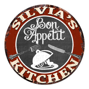 CPBK-0459-SILVIA-039-S-KITCHEN-Bon-Appetit-Chic-Tin-Sign-Decor-Gift-Ideas