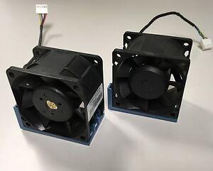 HP-519199-001-530748-001-Lot-of-2-DL180-G6-60mm-Cooling-Fan-Assembly-PFC0612DE