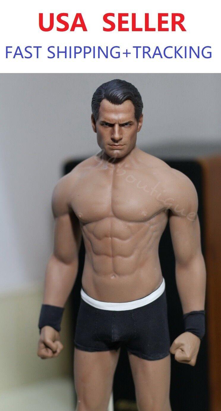 Phicen M33 1 6 Sin costuras Masculino cuerpo muscular con cabeza esculpida de Superman Henry Cavill