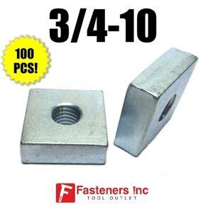 1//2-13 Regular Square Nuts//Steel//Zinc Quantity: 300 pcs