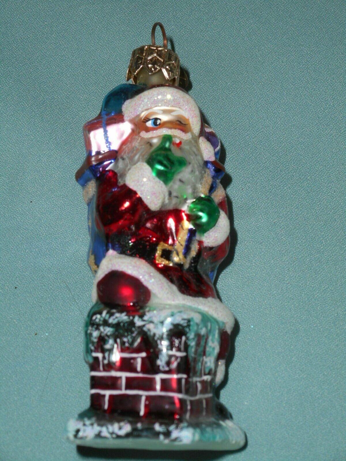 Christopher Radko On Wings Of Christmas Little Gem Ornament