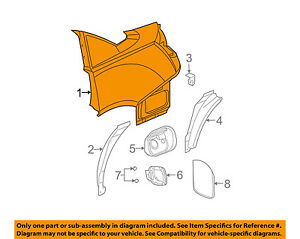 saturn gm oem 03 07 ion quarter panel rear fender right 22727972 ebay rh ebay com 2004 saturn vue parts diagram saturn ion parts manual