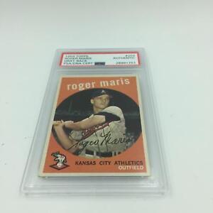 1959-Topps-Roger-Maris-Signed-Autographed-Baseball-Card-PSA-DNA-COA