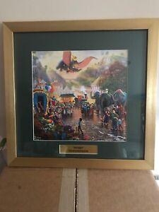 New Thomas Kinkade Walt Disney's  Dumbo  Deluxe Framed