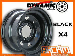 SET-OF-4-BLACK-4X4-DYNAMIC-SUNRAYSIA-WHEELS-16X8-6-139-7-OR-5-5-4WD-RIM-HILUX