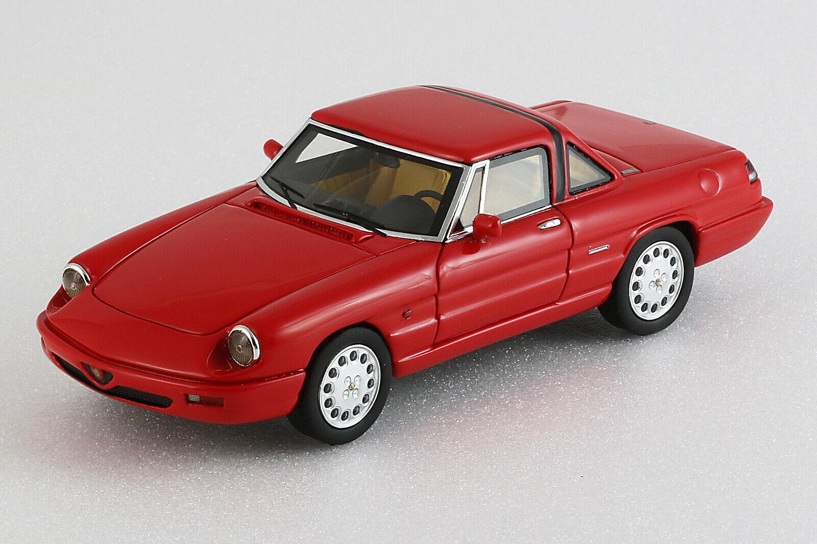 Alfa Romeo Spider 1990  4a serie Hardtop - 1 43ème - Rouge - Milena Rose  autorisation de vente de la marque