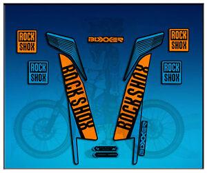 PEGATINAS-STICKERS-FORK-ROCK-SHOX-BOXXER-WORLD-CUP-AM77-AUFKLEBER-DECALS-ADESIVI