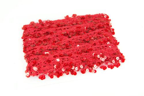 10 metres Sequin Edge Crochet Lace Fringe Trim