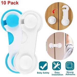 10 Pcs Baby Kids Box Drawer Cupboard Cabinet Wardrobe Door Fridge Safety Lock