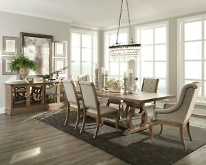 Dining Table 6 Cream Chairs