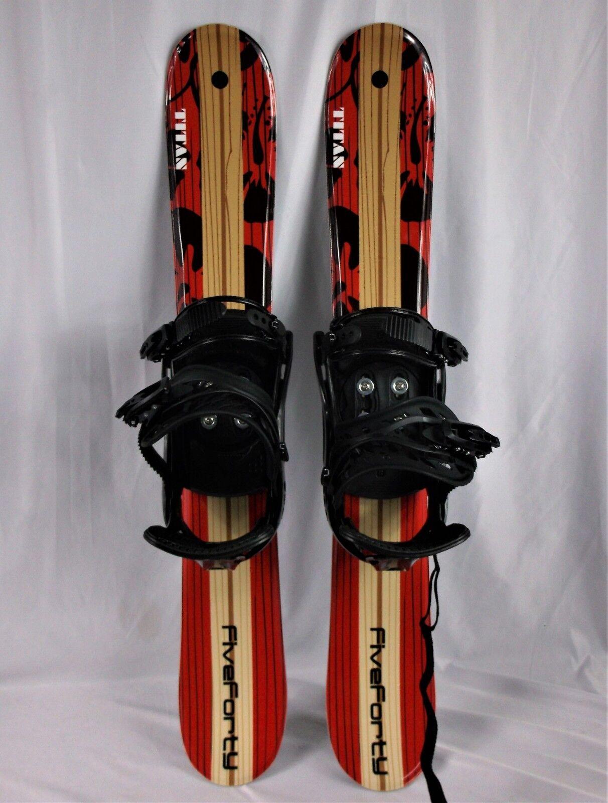Snowblades, 90cm FiveForty Titan, Wide Ski Blades, FiveForty snowboard bindings