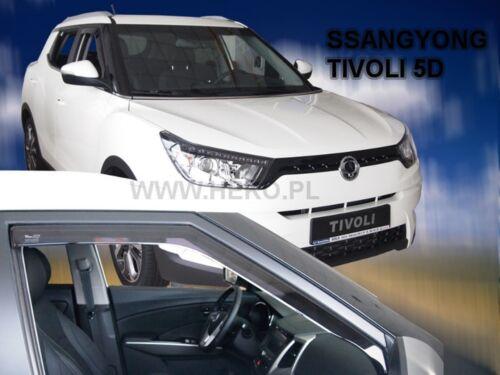 Ssangyong Tivoli 5 puerta 2015-UP viento desviadores 2pc Set tintadas Heko