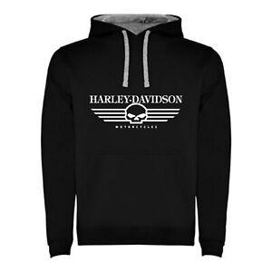 SUDADERA-CON-CAPUCHA-HARLEY-DAVIDSON-NEGRA-HOMBRE-TALLAS-S-M-L-XL-XXL