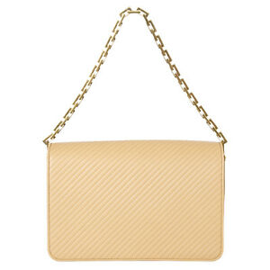42123 Auth Saint Laurent Beige Quilted Leather Babylone