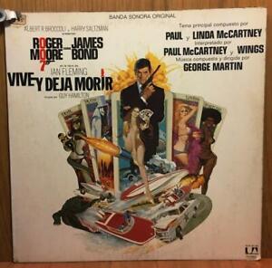JAMES-BOND-VIVE-Y-DEJA-MORIR-LP-VINILO-ESPANA-1973-MB-VG-MB-VG