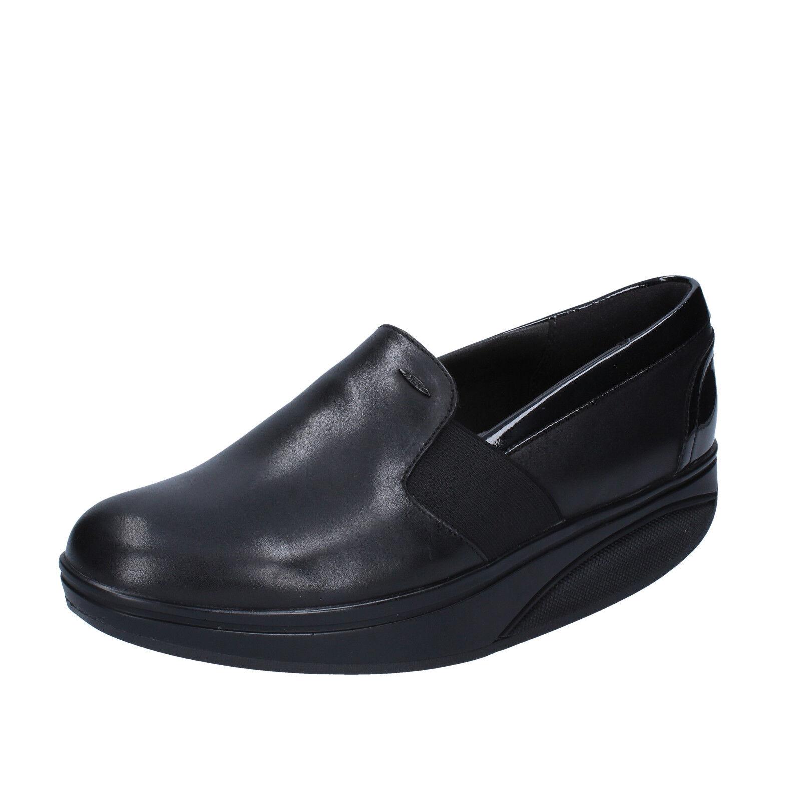 forma unica Donna  scarpe scarpe scarpe MBT 6   6,5 (EU 37) slip on loafers nero leather dynamic AC997-C  negozio online