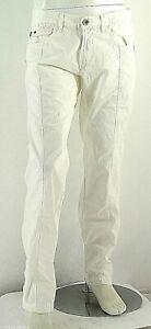 Pantaloni Uomo Jeans ENERGIE B770 Gamba Dritta Bianco Tg 33 veste grande
