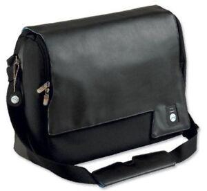 4d83f4c455f5 Image is loading Masters-Executive-Unisex-Laptop-Courier-Shoulder-Bag-Black-