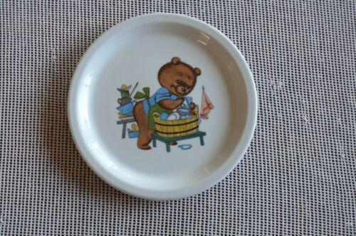 NEU Seltene Bären Kinder Teller von Lilienporzellan